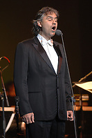 Andrea Bocelli performing live in Fort Lauderdale