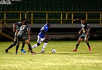TUNJA - COLOMBIA, 02-08-2021: Boyaca Chico F.C. y Real Cartagena durante partido de la fecha 2 por el Torneo BetPlay DIMAYOR II 2021 en el estadio La Independencia en la ciudad de Tunja. / Boyaca Chico F.C. and Real Cartagena during a match of the 2nd date for the BetPlay DIMAYOR II 2021 Tournament at the La Independencia stadium in Tunja city. / Photo: VizzorImage / Macgiver Baron / Cont.