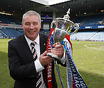 Ally McCoist with the SPFL League Championship trophy