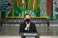 SAO PAULO, SP 16.06.21 - POLITICA-SP - João Doria Governador de São Paulo durante coletiva de imprensa na sede do Governo no Palacio dos Bandeirantes nesta nesta quarta-feira (Foto: Andre Ribeiro/Brazil Photo Press/Folhapress)