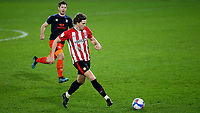 Mads Bech Sorensen of Brentford in action during Brentford vs Luton Town, Sky Bet EFL Championship Football at the Brentford Community Stadium on 20th January 2021
