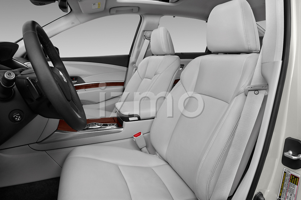 Front seat view of 2017 Acura RLX Sport Hybrid 4 Door Sedan front seat car photos