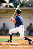 Jay Gibbons of the Toronto Blue Jays organization plays in a California Fall League game at The Epicenter circa October 1999 in Rancho Cucamonga, California. (Larry Goren/Four Seam Images)