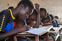 Senegal, Touba.  Students at Al-Azhar Madrasa, a School for Islamic Studies.