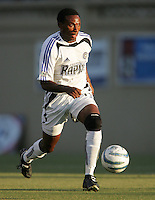 Jeff Cunningham dribbles the ball. The San Jose Earthquakes defeated the Colorado Rapids 1-0 at Spartan Stadium in San Jose, CA on June 29, 2005.