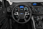 Steering wheel view of a 2013 Ford Escape S