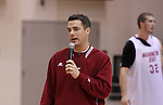 Tony Bennett, Head Basketball Coach at Washington State University, speaks to the crowd during a Cougar team scrimmage at Bohler Gymnasium on the WSU campus on November 8, 2008.