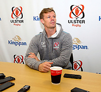1st October 2019 | Ulster Match Briefing<br /> <br /> Ulster Backs Coach Dwayne Peel during the Ulster Match Briefing ahead to their Sixth African tour at Gibson Park,  Belfast, Northern Ireland. Photo by John Dickson / DICKSONDIGITAL