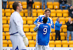 St Johnstone v Kilmarnock....20.10.12      SPL.Murray Davidson celebrates his goal with Gregory Tade.Picture by Graeme Hart..Copyright Perthshire Picture Agency.Tel: 01738 623350  Mobile: 07990 594431