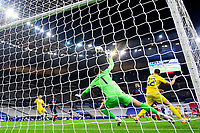 24th March 2021; Stade De France, Saint-Denis, Paris, France. FIFA World Cup 2022 qualification football; France versus Ukraine;  GIROUD OLIVIER (France) sees his shot saved by goalie Georgiy Bushchan (Ukraine)