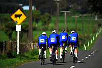 St Kentigern A u20 boys in action during the 2017 NZ Schools Road Cycling championships day one team time trials at Koputaroa Road near Levin, New Zealand on Saturday, 30 September 2017. Photo: Dave Lintott / lintottphoto.co.nz