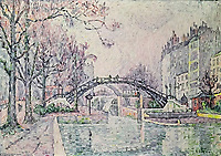The Canal Saint-Martin, 1933<br /> Paul Signac (1863–1935) <br /> oil on canvas<br /> Private Collection