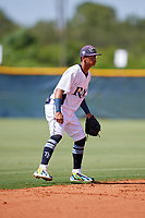 GCL Rays shortstop Jelfry Marte (5) during a game against the GCL Twins on August 9, 2018 at Charlotte Sports Park in Port Charlotte, Florida.  GCL Twins defeated GCL Rays 5-2.  (Mike Janes/Four Seam Images)