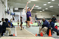 WINSTON-SALEM, NC - FEBRUARY 07: Kyanna Milliedge of Columbia University competes in the Women's Long Jump at JDL Fast Track on February 07, 2020 in Winston-Salem, North Carolina.