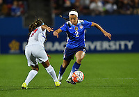 Frisco, TX. - February 15, 2016: The U.S. Women's National team takes a 4-0 lead over Puerto Rico in first half action in CONCACAF Women's Olympic Qualifying at Toyota Stadium.