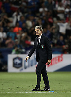 International friendly football match France vs Italy, Allianz Riviera, Nice, France, June 1, 2018. <br /> Italy's national team coach Roberto Mancini at the end of the international friendly football match between France and Italy at the Allianz Riviera in Nice on June 1, 2018.<br /> France wins 3-1.<br /> UPDATE IMAGES PRESS/Isabella Bonotto