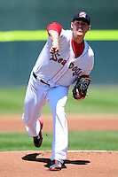 Justin Haley (36) of the Portland Sea Dogs during a game versus the Reading Fightin Phils at Hadlock Field in Portland, Maine on May 24, 2015.  (Ken Babbitt/Four Seam Images)