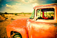 Red Ford Truck in Arizona - Salt River/Pima Indian Reservation
