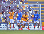 17.01.2021 Motherwell v Rangers: Devante Cole celebrates as Motherwell take the lead