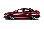 Car driver side profile view of a 2018 Honda Clarity Plug-In Hybrid 4 Door Sedan