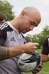 DJ Forbes. Training. Roslyn Park, London, England. Photo: Marc Weakley