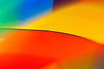 Abstract of hot air balloon with primary colors