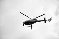 TV chopper capturing the race<br /> <br /> 3 Days of De Panne 2015