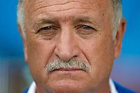 Brazil head coach Luiz Felipe Scolari looks dejected
