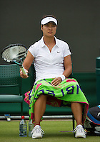 27-06-13, England, London,  AELTC, Wimbledon, Tennis, Wimbledon 2013, Day four, Na Li (CHN)<br /> <br /> <br /> <br /> Photo: Henk Koster