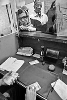- Milan, policy shop for Lotto game (November 1990)....- Milano. ricevitoria per il gioco del Lotto (novembre 1990)