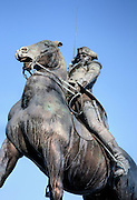 General John Stark statue at Arms Park in Manchester, New Hampshire USA