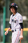 #24 Ikemoto Ayuri in action during the BFA Women's Baseball Asian Cup match between Japan and India at Sai Tso Wan Recreation Ground on September 6, 2017 in Hong Kong. Photo by Marcio Rodrigo Machado / Power Sport Images