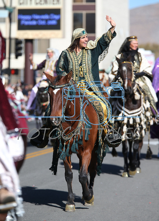 The Parading Arabians participate in the 75th annual Nevada Day parade in Carson City, Nev., on Saturday, Oct. 26, 2013.<br /> Photo by Cathleen Allison