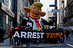 Protest Against the Former U.S. President Donald Trump in Front Trump Tower