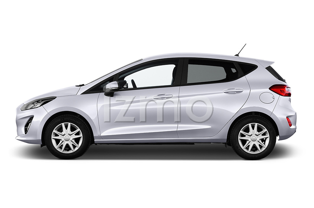 Car Driver side profile view of a 2017 Ford Fiesta Business-Class 5 Door Hatchback Side View