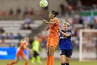 Houston, TX - Sunday June 19, 2016: Poliana, Alex Arlitt during a regular season National Women's Soccer League (NWSL) match between the Houston Dash and FC Kansas City at BBVA Compass Stadium.