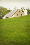 Franklin County, PA. Limestone barn and silo.