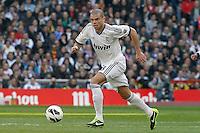 Real Madrid's Pepe during La Liga match.March 02,2013. (ALTERPHOTOS/Acero) /NortePhoto
