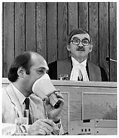 Le juge Jules DESCHENES, le 10 mai 1978<br /> <br /> PHOTO :  Agence Quebec Presse