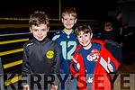 Leo Allen, Luke Daniel Savage and Conor Hughes enjoying the Cinderella Panto in the KDYS Killorglin on Sunday.