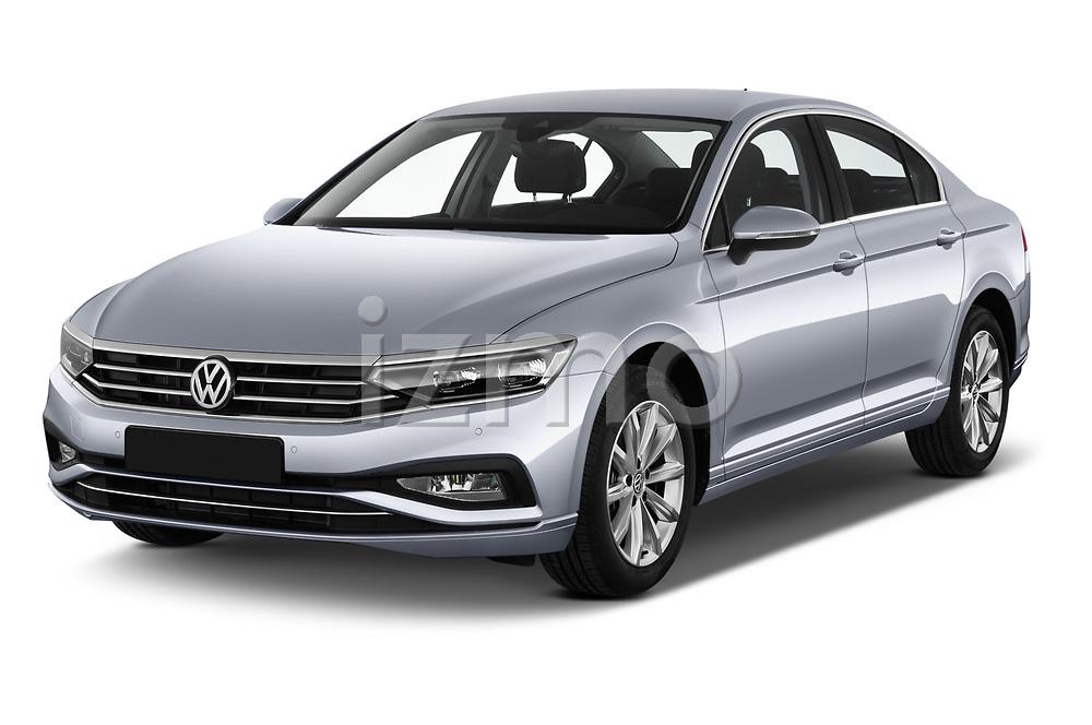 2020 Volkswagen Passat Style Business 4 Door Sedan angular front stock photos of front three quarter view