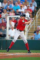 Boston Red Sox designated hitter David Murphy (18) at bat during a Spring Training game against the Minnesota Twins on March 16, 2016 at Hammond Stadium in Fort Myers, Florida.  Minnesota defeated Boston 9-4.  (Mike Janes/Four Seam Images)