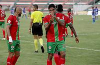 TULUÁ- COLOMBIA, 11-10-2021:Cortuluá y Orsomarso, durante partido por la fecha 12 del Torneo BetPlay DIMAYOR II 2021 jugado en el estadio Doce de Octubre de Tuluá./ Cortulua and Orsomarso, during 12  date match of the BetPlay DIMAYOR II 2021 Tournament played at the Doce de Octubre stadium in Tuluá. Photo: VizzorImage. / Samir Rojas / Contribuidor