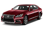2017 Lexus LS 460-Sport 4 Door Sedan Angular Front stock photos of front three quarter view