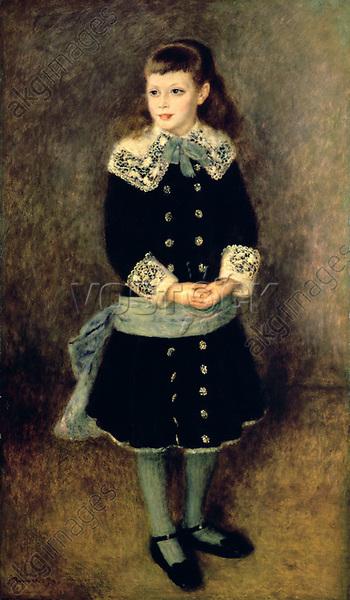 'Girl with a Blue Sash', late 19th/early 20th century. From the Museu de Arte de São Paulo, Brazil.