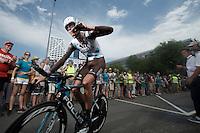 Johan Vansummeren (BEL/AG2R-LaMondiale) after finishing<br /> <br /> stage 1 prologue: Utrecht (13.8km)<br /> Tour de France 2015
