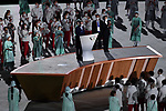 (L-R) Thomas Bach (GER), Seiko Hashimoto (JPN), <br />JULY 23, 2021 : <br />Tokyo 2020 Olympic Games Opening Ceremony at the Olympic Stadium in Tokyo, Japan. <br />(Photo by MATSUO.K/AFLO SPORT)