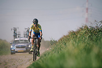 """race leader Rob Ruijgh (NED/Tarteletto-Isorex) lost a big part of his lead after sustaining a flat<br /> <br /> Antwerp Port Epic 2018 (formerly """"Schaal Sels"""")<br /> One Day Race:  Antwerp > Antwerp (207 km; of which 32km are cobbles & 30km is gravel/off-road!)"""