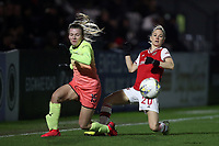 Leonie Maier of Arsenal and Lauren Hemp of Manchester City during Arsenal Women vs Manchester City Women, FA Women's Continental League Cup Football at Meadow Park on 29th January 2020