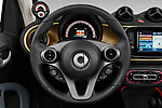Car pictures of steering wheel view of a 2020 Smart EQ-fortwo Comfort-Plus 2 Door Convertible Steering Wheel